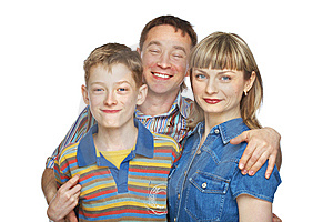 Mother, Father And Son Royalty Free Stock Photo - Image: 9861685