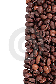 Coffee Beans Lined Up Vertical Royalty Free Stock Photography - Image: 9863257
