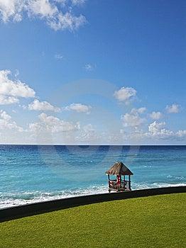 Caribbean Lifeguard Station Stock Image - Image: 9864011