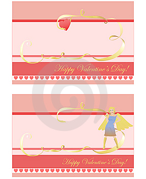 Set Of 2 Valentine's Day Cards Stock Photography - Image: 9864462