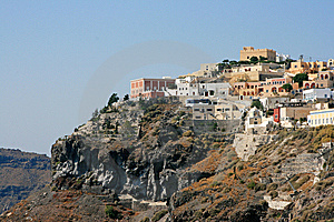 View Over Town Oia Island Santorini Royalty Free Stock Image - Image: 9865866