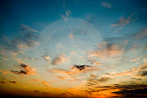 Bright Glowing Sunset Stock Image - Image: 9868051