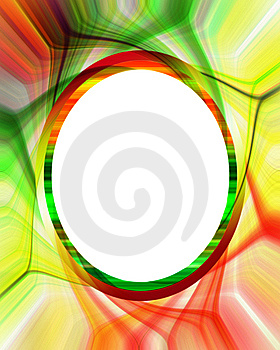 Colorful Abstract Frame Or Border Stock Photo - Image: 9869410