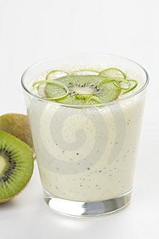 Refreshment And Creamy Milkshake  Kiwi And Lime Royalty Free Stock Photos - Image: 9869898