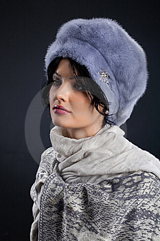 Woman In A Fur Hat Stock Photos - Image: 9873823