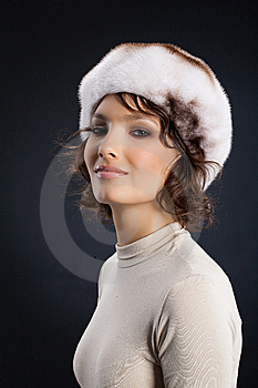 Woman In A Fur Hat Royalty Free Stock Photos - Image: 9874088
