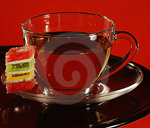 Cup Of Tea And Sweeties. Royalty Free Stock Photos - Image: 9875238