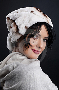 Woman In A Fur Hat Royalty Free Stock Photos - Image: 9875408