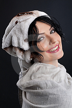 Woman In A Fur Hat Royalty Free Stock Images - Image: 9875469