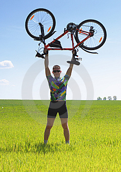 Bike Tourist Stock Image - Image: 9878261