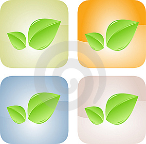 Set Of Blank, Realistic Vector Stickers Stock Image - Image: 9879761