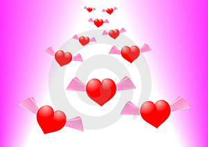 Hovering Hearts Royalty Free Stock Image - Image: 9880586
