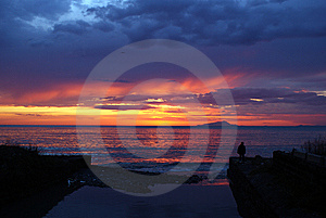 A Fantastic Sunset Stock Photography - Image: 9883952