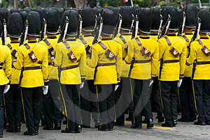 Thai Soldiers In Parade Uniforms Royalty Free Stock Image - Image: 9884756