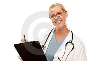 Friendly Female Blonde Doctor Royalty Free Stock Photography - Image: 9885467