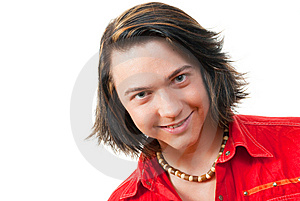 Happy Young Guy Portrait In Studio Royalty Free Stock Image - Image: 9887256