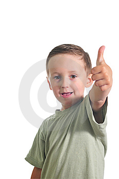 Little Cute Boy Giving Ok Stock Photography - Image: 9887462