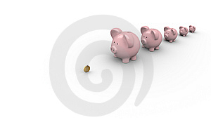 Banks Waiting In A Line For Money Stock Photo - Image: 9891570