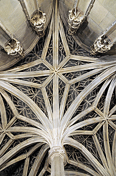 Ceiling Pattern Of Gothic Building Royalty Free Stock Photo - Image: 9892255