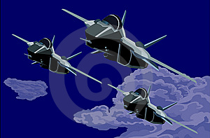 Fighter- Cruised Organize Into Teams Stock Image - Image: 9892411