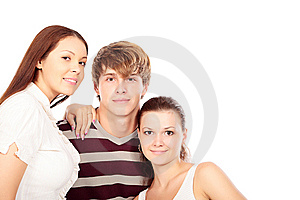 Three of people Free Stock Photo