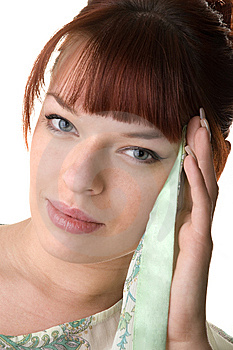 Red Haired Girl Wearing A Tunic Close-up Stock Photos - Image: 9893173