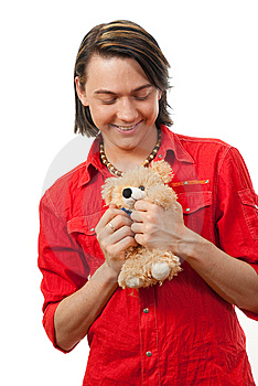 Young Guy With His Loved Toy Stock Photography - Image: 9893202