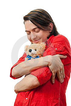 Young Guy With His Loved Toy Stock Photo - Image: 9893210