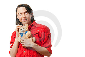 Young Guy With His Loved Toy Stock Images - Image: 9893214