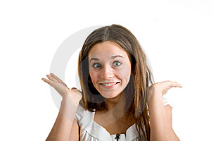 A Happy And Surprised Woman Stock Images - Image: 9893594