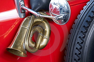 Old Car With Brass Horn Stock Photos - Image: 9895523