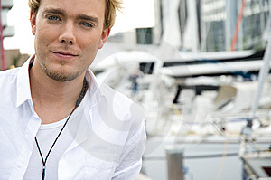 Young Man At A Yachtclub Stock Image - Image: 9896011