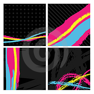 Black Abstract Squares Royalty Free Stock Photo - Image: 9897075