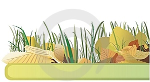 Banner With Autumn Leaves Stock Image - Image: 9897231