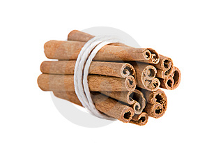 Bundle Of Cinnamon Sticks On The White Background Stock Photo - Image: 9897780