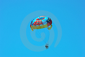 Three People Parasailing Royalty Free Stock Photos - Image: 9897928