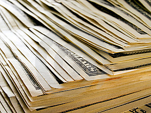 Stack Of Dollars. Royalty Free Stock Image - Image: 9898166