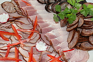 Cold Meat Plate Royalty Free Stock Images - Image: 9898689