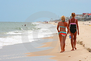 Blonde & Tan On The Beach 4 Stock Photos - Image: 995673