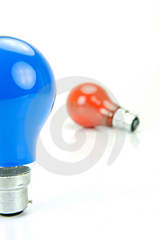 Colored Light Bulbs Stock Images - Image: 9902294