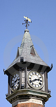 Top Of A Clock Tower Stock Photo - Image: 9903260