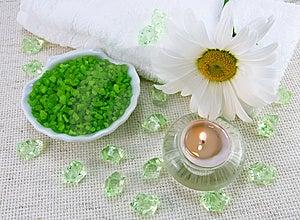 Marine Salt For An Aromatherapy Royalty Free Stock Photo - Image: 9903355
