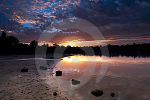 Sunset Over Iron Cove, Sydney Stock Photos - Image: 9903663