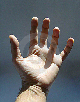Opened Hand Royalty Free Stock Image - Image: 9905486