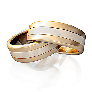 Golden Rings Royalty Free Stock Photo - Image: 9905625