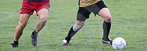 Soccer players Royalty Free Stock Photo