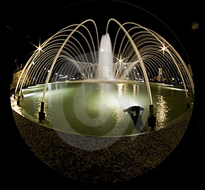 Fountain At Night Royalty Free Stock Image - Image: 9906106
