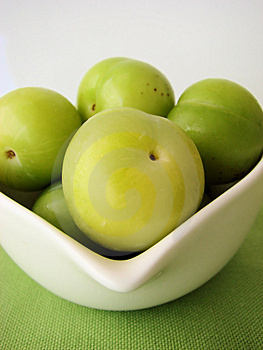 Green Plums Stock Image - Image: 9907271