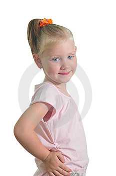 Happy Little Girl Royalty Free Stock Image - Image: 9909406