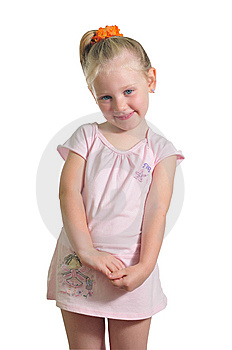Happy Little Girl Royalty Free Stock Images - Image: 9909499
